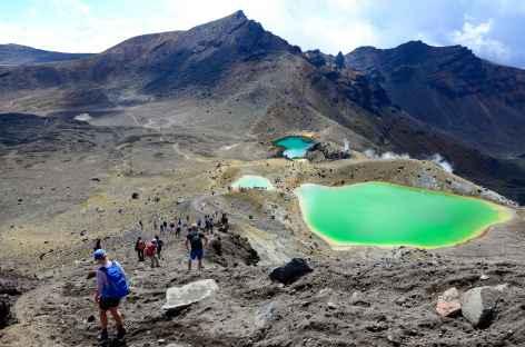 Les trois Emerald Lakes, massif du Tongariro - Nouvelle Zélande -