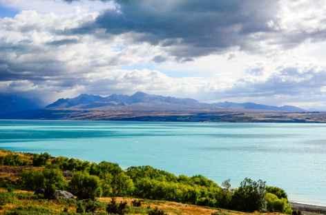 Lac Pukaki vers le Mt Cook - Nouvelle Zélande -