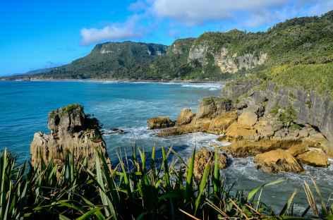 Côte sauvage à Punakaiki - Nouvelle Zélande -