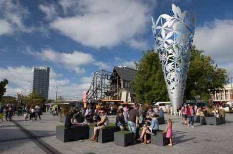 Christchurch, place de la cathédrale - Nouvelle Zélande -