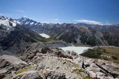 Randonnée menant à Sealy Tarns et au refuge Mueller Hut - Nouvelle Zélande -