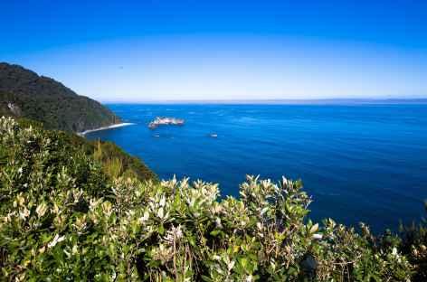 Dernière vue sur la mer de Tasmanie - Nouvelle Zélande -