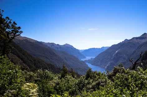 Le Doubtful Sound depuis Wilmot Pass - Nouvelle Zélande -