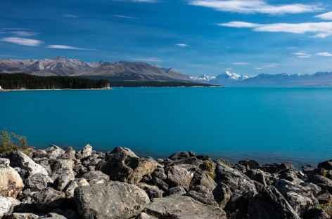 Le Lac Pukaki et le massif du Mt Cook - Nouvelle Zélande -