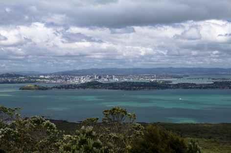 Vue sur Auckland depuis le sommet du Rangitoto - Nouvelle Zélande -
