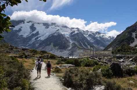 Dans la vallée de Hooker Glacier - Nouvelle Zélande -