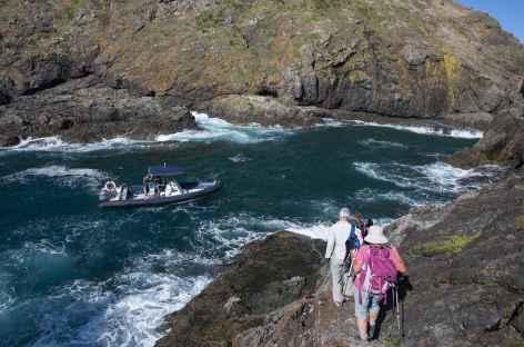 Récupération au bout du Cape Brett - Nouvelle Zélande -