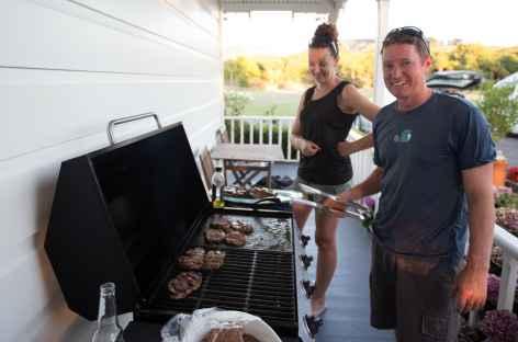 Nos hôtes, fermiers à Kaipara Harbour - Nouvelle Zélande -