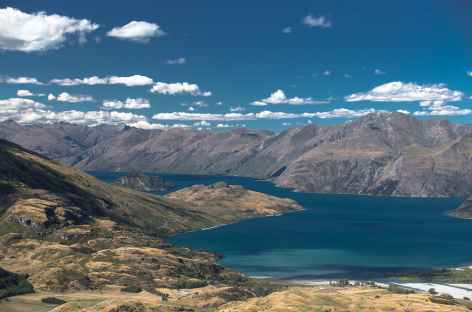 Depuis le sommet de Rocky Mountain, le lac Wanaka - Nouvelle Zélande -