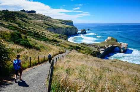 Chemin d'accès à Tunnel Beach, Dunedin - Nouvelle Zélande -