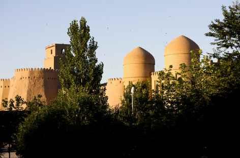 Khiva, les remparts de la vielle ville - Ouzbékistan -