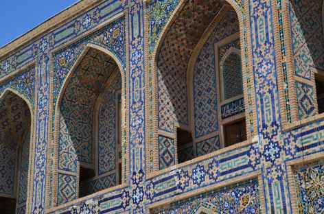 Détails des mosaiques, Samarcande -