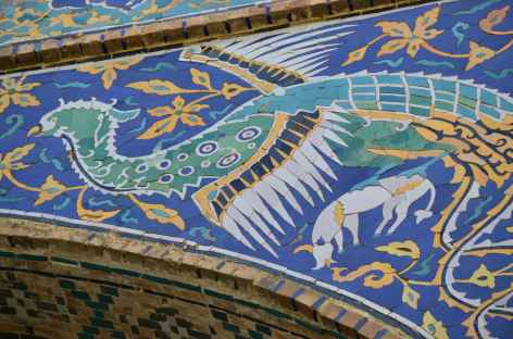 Détail des mosaiques, Ouzbékistan -