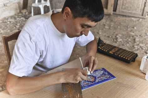 Miniatures sur bois, Samarcande - Ouzbékistan -
