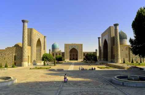 La place du Reghistan à Samarcande - Ouzbékistan -