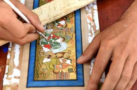 Miniature danss les ateliers de Boukhara - Ouzbékistan -