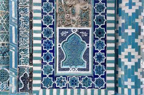 Khiva, détail des faïences d'une mosquée - Ouzbékistan -