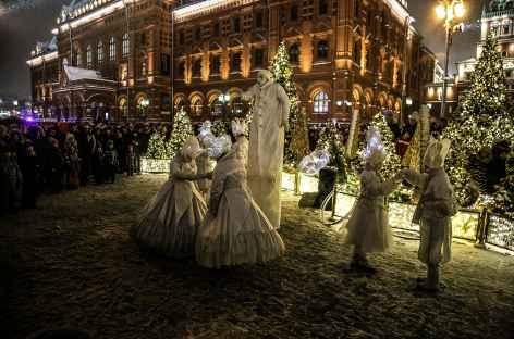 Moscou, spectacle de rue -