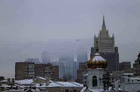 Moscou, Immeubles modernes et staliniens -