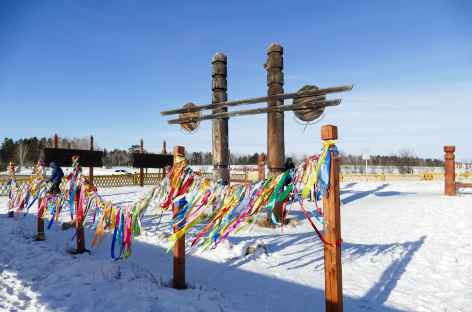 Monument d'éleveurs bouriates - Baïkal -