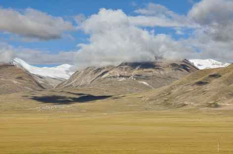 Paysage d'altitude depuis le Train du Ciel - Tibet -