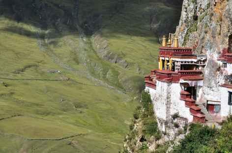 Le monastère de Drak Yerpa, en nid d'aigle - Tibet -