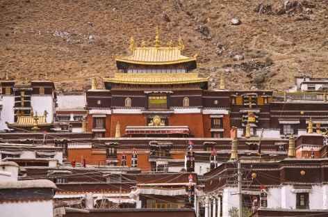 L'importante cité monastique de Shigatsé - Tibet -