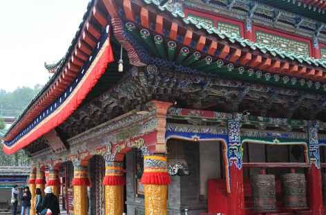 Détail d'architecture du Kumbum - Xining, Chine -