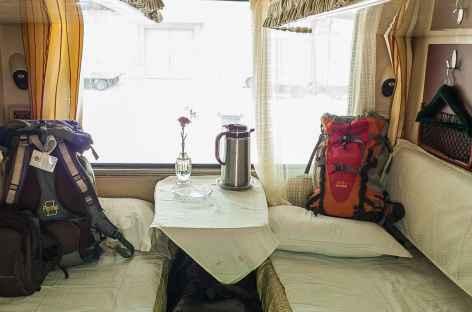 Les couchettes du Train du ciel en 1ère classe, Tibet -