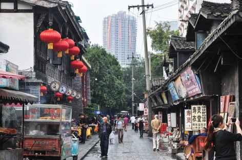 Rue du vieux Chengdu, capitale du Sichuan - Chine -