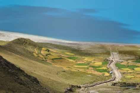 Palette de couleurs sur le lac Yamdrok - Tibet -