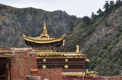 Monastère en Amdo entre Labrang et Tongren - Chine -
