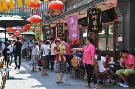 Quartier commerçant typique à Pékin, Chine -