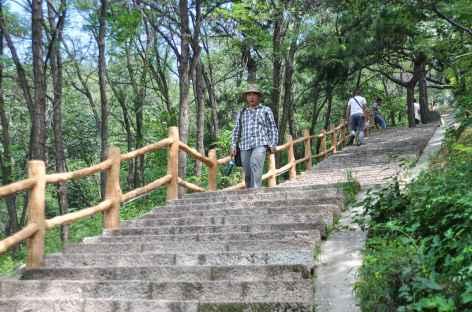 Un escalier mène en un quart d'heure sur la Grande Muraille - Chine -