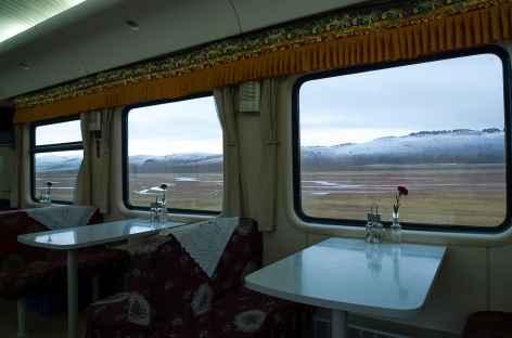 Grands paysages depuis le Train du ciel, Tibet -
