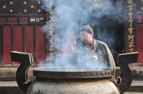 Offrande au temple de Manjushri à Chengdu - Chine -