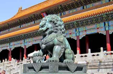 Architecture colossale de la Cité Interdite - Pékin, Chine -