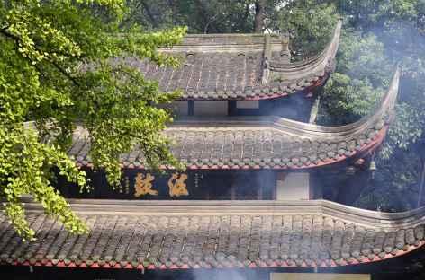 Toits en pagode au temple de Manjushri, Chengdu - Chine -