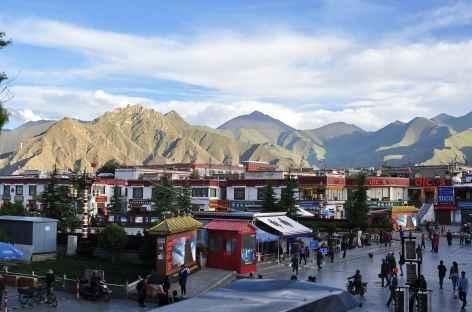 Fin de journée à Lhassa, Tibet -