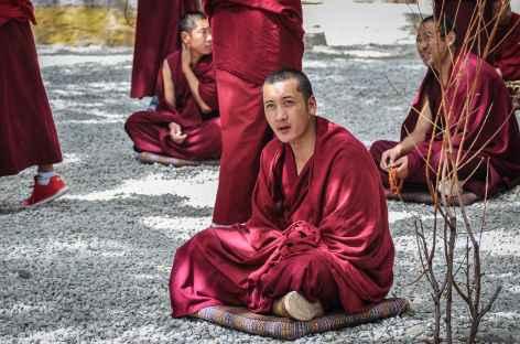 Portrait d'un moine au monastère de Sera - Tibet -