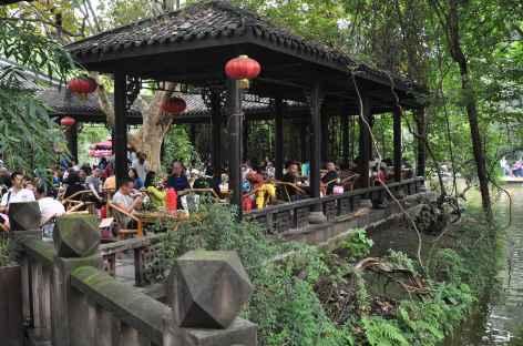 Maison de thé à Chengdu, Sichuan - Chine -