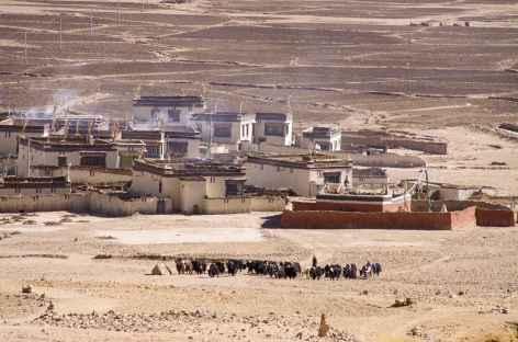 Village de l'Ouest, Tibet -