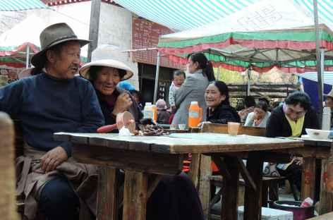 Maison de Thé à Lhassa, Tibet -