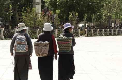Retour du Marché, Tibet -
