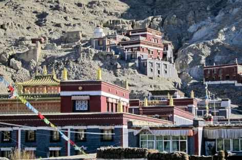 Village monastique de Sakya, Tibet -