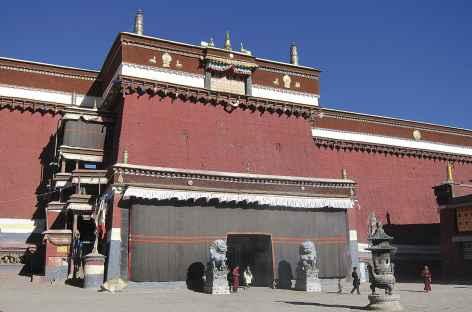 Entrée du Monastère de Sakya, Tibet -