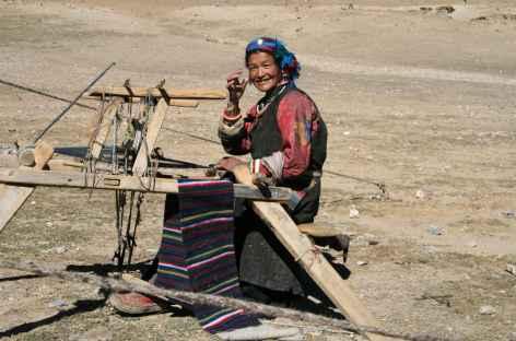 Tissage au milieu de nul part, Gugé Tibet -