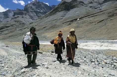 Avec les pèlerins, Mt Kailash, Tibet -
