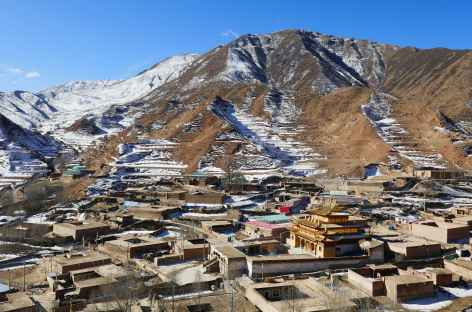 Monastère sous la neige - Amdo -