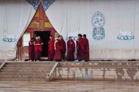 Moines au monastère, Amdo - Chine -